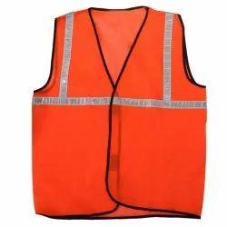 Orange Nylon Traffic Safety Vest
