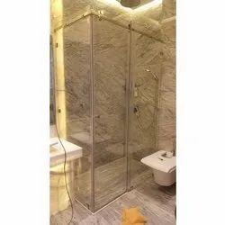 Swing Aluminium Bathroom Glass Door