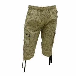 Knee Length Cotton Mens Shorts, Size: Medium