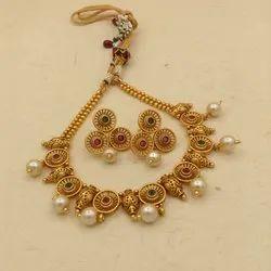 Karishma Kreations Matte Finish Jewellery Set - 1485
