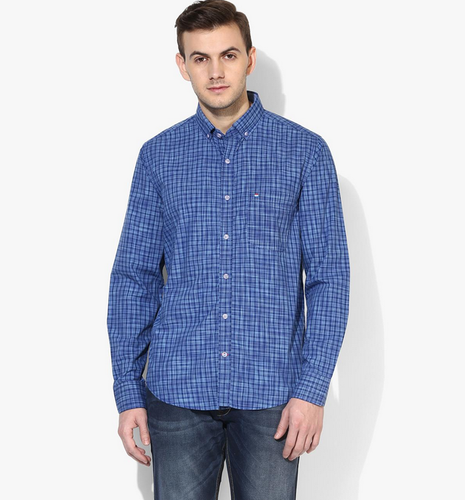a99b108769 Red Chief Men 8110368 Blue Checks Regular Fit Casual Shirt For Mens ...