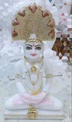 White Marble Parshvanath Statue