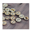 Brown Ps Daima Laser Engraved Button