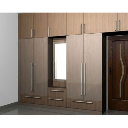Aluminium Modular Kitchen At Rs 1100 Square Feet: Stylish Modular Wardrobe At Rs 1100 /square Feet