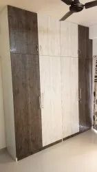 Solid Wood Classic Double Color Modular Wardrobe
