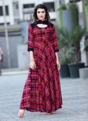 Ladies Red Fancy Kurti