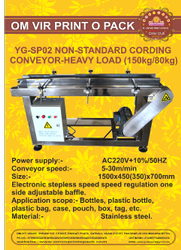 YG-PS02 NON-STANDARD CODING CONVEYOR-HEAVY LOAD(150KG/80KG)