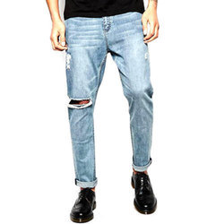 Men Casual Wear Denim Jeans, Size: 28 - 36