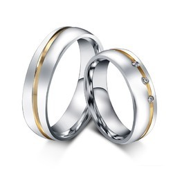 91d93a07cdce1 Swarovski Crystal Platinum Plated Couple Rings