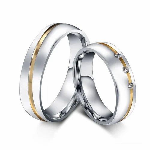 Swarovski Crystal Platinum Plated Couple Rings