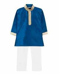 Ethnic Prince Mulberry Kurta Pajama For Baby Boy - Blue