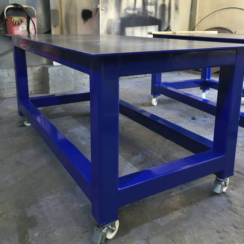 Charmant Metal, Stainless Steel L Shape And Round Industrial Work Tables