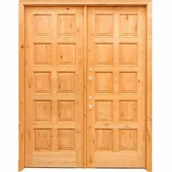 Brown Teak Wood Door