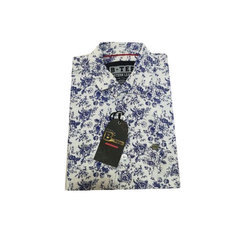 B-TEE Cotton Printed Shirt, Size: S, M and L
