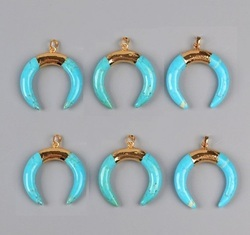 Turquoise Crescent Pendant