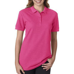 Ladies Pink Polo T-Shirts