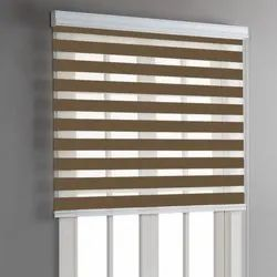 Wooden Brown Window Roller Blind, for Office