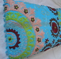 Suznai Embroidered Cotton Cushion