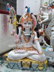 White Shiva Marble Statue