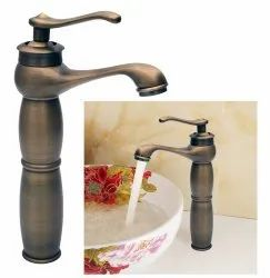 Premium Single Lever Basin Brass Faucet Mixer Mb467 With Two Braided Connecting Pipes 450 Mm