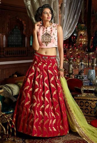 df48b9e3fc18a Indo Western Style Lehenga Choli With Dupatta at Rs 1800  piece ...