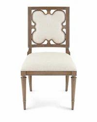 Wooden Linen Clover Dining Side Chair, Wooden Furniture