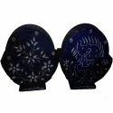 Black Soapstone Tea Coaster Set