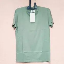 Lycra Plain Mens Round Neck T Shirts, Size: M to XXL