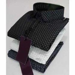 Collar Neck Mens Cotton Printed Shirt