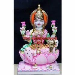 Pure White Marble Laxmi Statue
