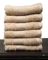Solid Soft 100% Cotton Bathroom Hand Terry Towels Set of 6