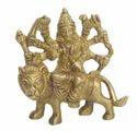 Brass Yellow Ambe Maa Small Idol Bh06474