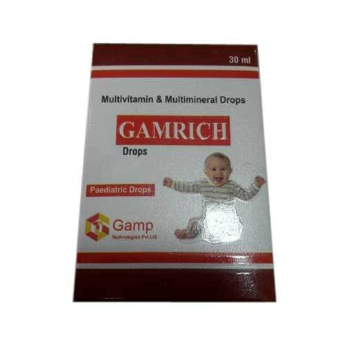 Gamrich Multivitamin and Multimineral Drops, Drop, Packaging Size: 30 Ml