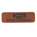 Brown Logo Embossed Pu Leather Label