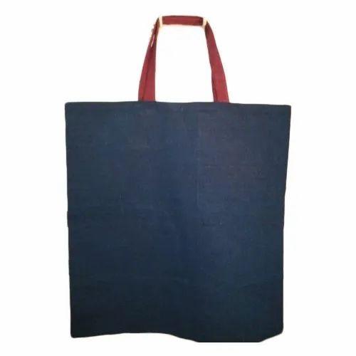 Dark Blue Plain Cotton Bag