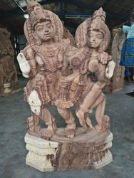 Hand Crafted Beautiful Wooden Statue