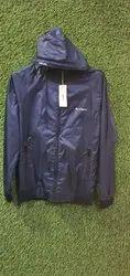 Mens Fashion Plain Polyester Hooded Jacket