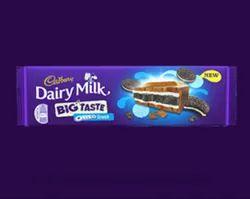 Cadbury Dairy Milk Big Taste Oreo Crunch Chocolate, Packaging Type: Packet