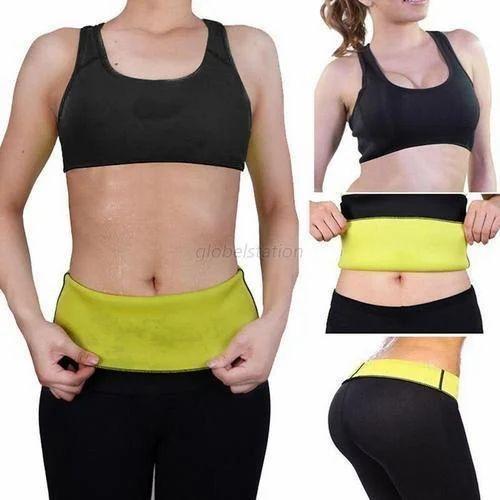 12de8d5b5d0e9 Kawachi Black color outside and yellow color inside Weight Losing Body  Shaper Set Women