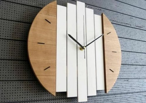 Analog Marble Wall Clock for Home