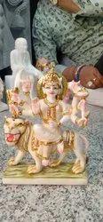 Hindu Marble Durga Statue