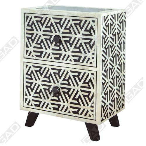 Antiques Smart Amazingb Art Deco Chest Console Table Inlaid Two Toned Post-1950