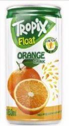 Tropix Float Orange Drink, Size: 180ml, Packaging Type: Can