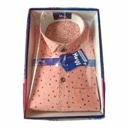 M&K Boys Peach Fancy Shirt, Size: 34 and 36