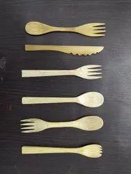 Bamboo Re Usable Cutlery (Spoon, Fork, Knife, Spork)