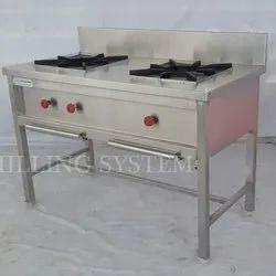 2 Burner Stainless Steel Bhatti