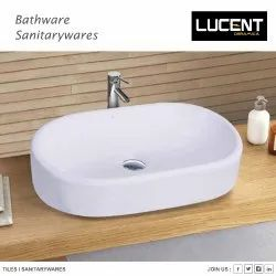 Ceramic Wall Mounted Wash Basin for Bathroom Model Name/Number: LS04
