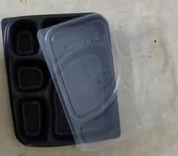 Meal Tray 5 Portion Black