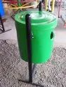 Cylindrical Dustbin with Stand