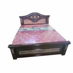 Hotel Room Wooden Bed